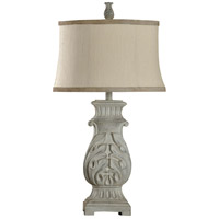 Signature 31 inch 100 watt Distressed Brown Table Lamp Portable Light