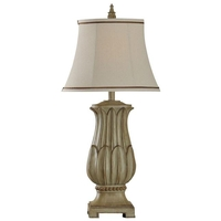 StyleCraft Home Collection L38204DS Signature 32 inch 60 watt Distressed Beige Table Lamp Portable Light