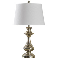 StyleCraft Home Collection L38403DS Signature 28 inch 150 watt Polished Nickel Table Lamp Portable Light