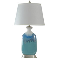 StyleCraft Home Collection L38829DS Signature 36 inch 100 watt Blue and White Glaze Table Lamp Portable Light