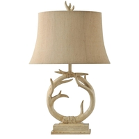 StyleCraft Home Collection L38968ADS Signature 30 inch 150 watt Distressed Cream Table Lamp Portable Light