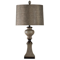 StyleCraft Home Collection L39034DS Signature 34 inch 150 watt Black and Gray Table Lamp Portable Light