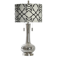 StyleCraft Home Collection L39065DS Signature 35 inch 60 watt Plated Smoke Table Lamp Portable Light