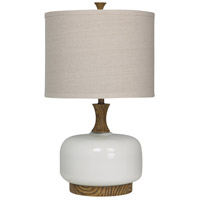 StyleCraft Home Collection L39084DS Signature 3 inch 150 watt Stained Wood and White Table Lamp Portable Light