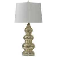 StyleCraft Home Collection L39172MMDS Signature 31 inch 150 watt Northbay Mercury and Clear Table Lamp Portable Light