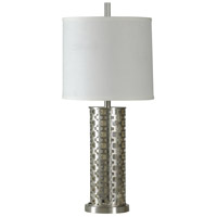 StyleCraft Home Collection L39390DS Signature 33 inch 100 watt Brushed Steel Table Lamp Portable Light