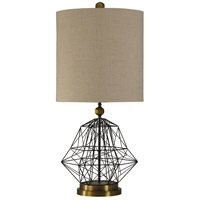 StyleCraft Home Collection L39478DS Signature 38 inch 150 watt Satin Black and Hawthorne Gold Table Lamp Portable Light