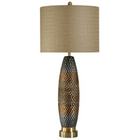 StyleCraft Home Collection L39517DS Signature 37 inch 150 watt Gold and Gray Table Lamp Portable Light
