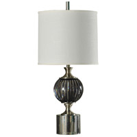 StyleCraft Home Collection L39549DS Signature 36 inch 150 watt Black and Brushed Steel Table Lamp Portable Light