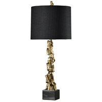 StyleCraft Home Collection L39600DS Signature 42 inch 150 watt Vintage Gold Table Lamp Portable Light