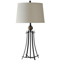 Signature 32 inch 150 watt Oiled Bronze and Marble Table Lamp Portable Light