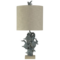 StyleCraft Home Collection L39737DS Signature 33 inch 150 watt Dark Blue Table Lamp Portable Light