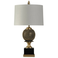 StyleCraft Home Collection L39754DS Signature 34 inch 150 watt Black and Gold Table Lamp Portable Light