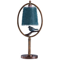StyleCraft Home Collection L415689DS Signature 27 inch 40 watt Brown and Blue Table Lamp Portable Light