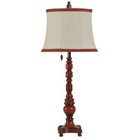 StyleCraft Home Collection L42685DS Signature 38 inch 100 watt Providence Red Table Lamp Portable Light