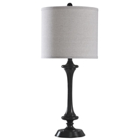 StyleCraft Home Collection L43170DS Signature 29 inch 100 watt Black Bronze Table Lamp Portable Light