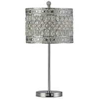 StyleCraft Home Collection L43238DS Signature 24 inch 100 watt Chrome and Crystal Buffet Lamp Portable Light