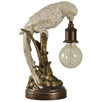 StyleCraft Home Collection L53412DS Signature 16 inch 100 watt Bronze and White Table Lamp Portable Light