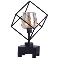 StyleCraft Home Collection L55401DS Axis 6 inch 40 watt Industrial Black and Mercury Uplight Portable Light