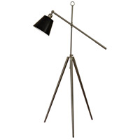 StyleCraft Home Collection L710188DS Signature 67 inch 60 watt Brushed Steel Floor Lamp Portable Light