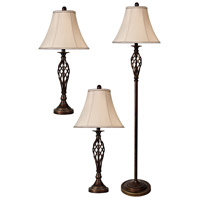 StyleCraft Home Collection L81008DS Signature 61 inch 100 watt Barclay Brass Table Lamp Portable Light