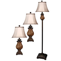 StyleCraft Home Collection L81009DS Signature 61 inch 60 watt Toffee Table Lamp Portable Light