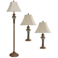 StyleCraft Home Collection L81924DS Signature 27 inch 100 watt Moraga Floor and Table Lamp Portable Light