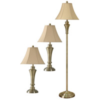 StyleCraft Home Collection L82234DS Signature 6 inch 60 watt Antique Brass Floor and Table Lamp Portable Light