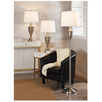 StyleCraft Home Collection L831681DS Signature 61 inch 150 watt Brushed Nickel Table Lamp Portable Light