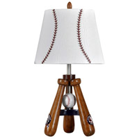 StyleCraft Home Collection LL1002DS Signature 25 inch 100 watt Stained Wood Table Lamp Portable Light