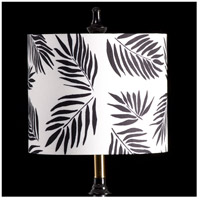 StyleCraft Home Collection MMSHR12SP387ADS Mixology Black & White Patterned Lamp Shade
