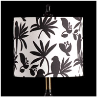 StyleCraft Home Collection MMSHR12SP391ADS Mixology Black & White Patterned Lamp Shade
