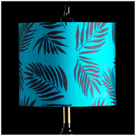 StyleCraft Home Collection MMSHR12SP499ADS Mixology Black & Teal Patterned Lamp Shade