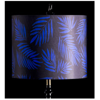 StyleCraft Home Collection MMSHR12SP500DS Mixology Black & Navy Patterned Lamp Shade