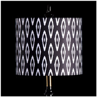 StyleCraft Home Collection MMSHR12SP501ADS Mixology Black & White Patterned Lamp Shade