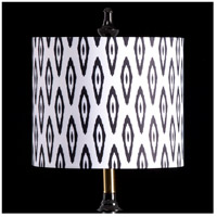 StyleCraft Home Collection MMSHR12SP502ADS Mixology Black & White Patterned Lamp Shade