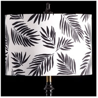 StyleCraft Home Collection MMSHR16SP38DS Mixology Black & White Patterned Lamp Shade