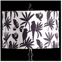 StyleCraft Home Collection MMSHR16SP391ADS Mixology Black & White Patterned Lamp Shade