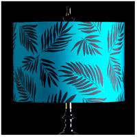 StyleCraft Home Collection MMSHR16SP499DS Mixology Black & Teal Patterned Lamp Shade