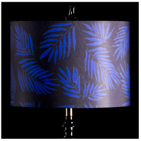 StyleCraft Home Collection MMSHR16SP500ADS Mixology Black & Navy Patterned Lamp Shade