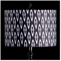 StyleCraft Home Collection MMSHR16SP501DS Mixology Black & White Patterned Lamp Shade