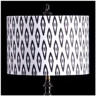 StyleCraft Home Collection MMSHR16SP502DS Mixology Black & White Patterned Lamp Shade