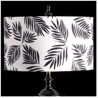 StyleCraft Home Collection MMSHR19SP387DS Mixology Black & White Patterned Lamp Shade