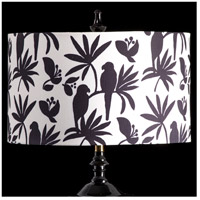 StyleCraft Home Collection MMSHR19SP391DS Mixology Black & White Patterned Lamp Shade