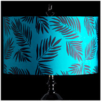 StyleCraft Home Collection MMSHR19SP499DS Mixology Black & Teal Patterned Lamp Shade