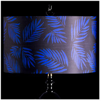 StyleCraft Home Collection MMSHR19SP500DS Mixology Black & Navy Patterned Lamp Shade