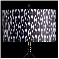 StyleCraft Home Collection MMSHR19SP501DS Mixology Black & White Patterned Lamp Shade