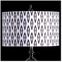StyleCraft Home Collection MMSHR19SP502DS Mixology Black & White Patterned Lamp Shade