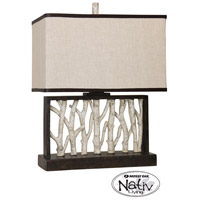 StyleCraft Home Collection MO24186DS Signature 25 inch 100 watt Black and White Table Lamp Portable Light