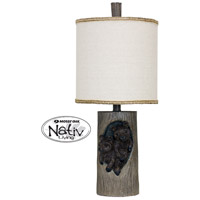 StyleCraft Home Collection MO29705DS Signature 24 inch 60 watt Grey and Brown Table Lamp Portable Light